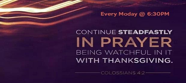 Prayer Meeting - Mondays @ 6:30 PM